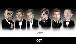 james bond caricature