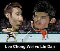 lee chong wei vs lin dan caricature cartoon