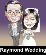 raymond wedding caricature